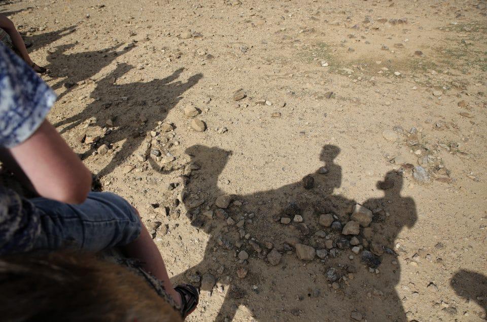 Kamelen en een fort